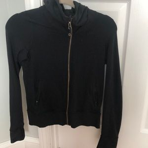 Lululemmon black zip up hoodie size 4